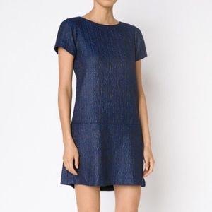 Alice + Olivia Liv Drop Waist Jacquard Mini Dress